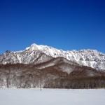 冬の戸隠鏡池 作者 水山
